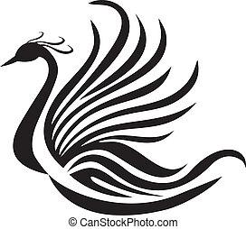 ave, feniks, sylwetka, logo