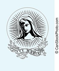 Ave Maria, art vector t-shirt design