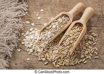 aveia, sementes, flocos