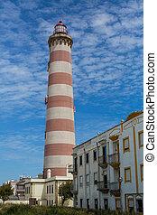 aveiro, 灯台, barra, また, 灯台, portugal., 知られている, praia, da