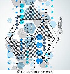 avenir, être, gabarit, boîte, géométrique, bleu, industriel, moderne, layout., vecteur, plan., utilisé, fond, ingénierie, technique, composition