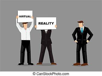avenir, personnels, concept, compagnie, direction, projection, patron, illustration