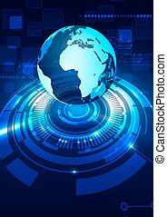 avenir, résumé, global, technologie, fond