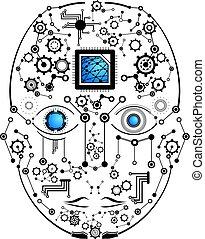 avenir, visage humain