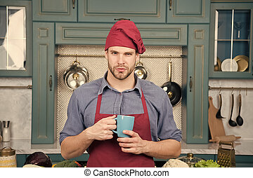avental, grande, conceito, beverage., taste., smoothie, cozinhar, quentes, kitchen., preparado, cozinheiro, saudável, assalte, bebida, desgaste, gostosa, recipe., profissional, ter, bebida, homem