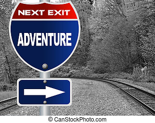 aventura, muestra del camino