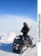 aventure, guide, hiver