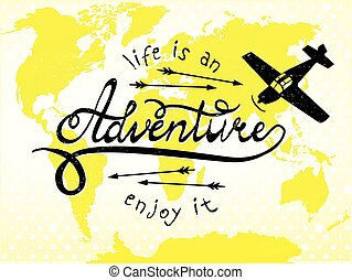 aventure, jouir de, il, vie