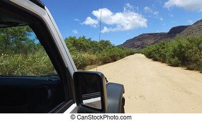 aventure, route, conduite, voiture, terre