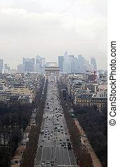 Avenue des Champs-Elysees in Paris, France