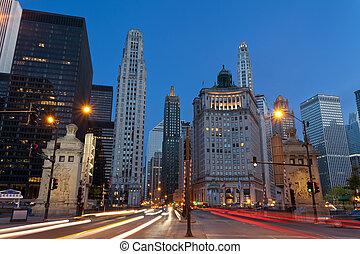 avenue michigan, chicago.
