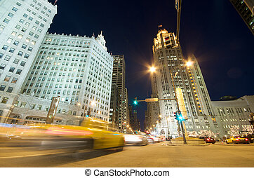 avenue, michigan, trafic, chicago