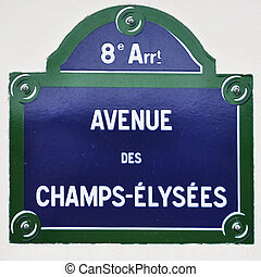 avenue, signe, paris, rue, champions-elysees, from