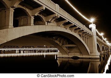 avenue, tempe, pont, arizona, moulin