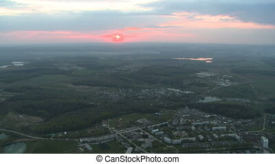 Average city landscape aerial video