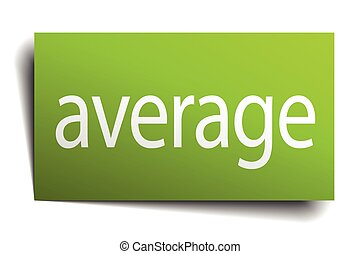 average green paper sign on white background