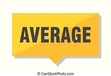 average price tag - average yellow square price tag