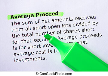 Average Proceed