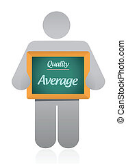 average quality sign illustration