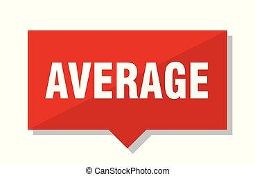 average red tag - average red square price tag