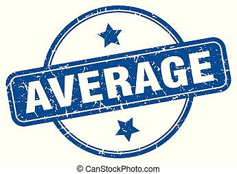 average round grunge isolated stamp