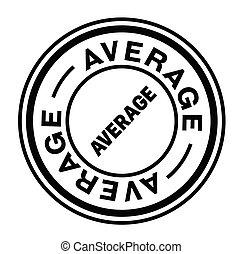 average stamp on white - average black stamp on white...