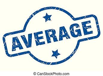 average vintage stamp. average sign