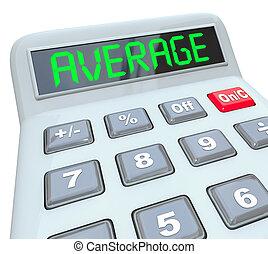 Average Word Calculator Adding Dividing Figuring Common...