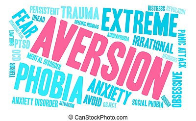 Aversion Word Cloud - Aversion word cloud on a white...