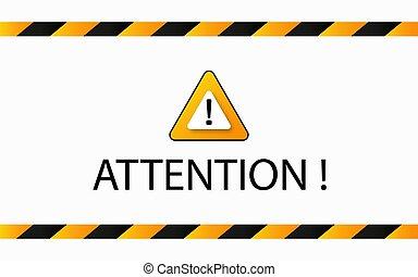 avertissement, attention, bannière