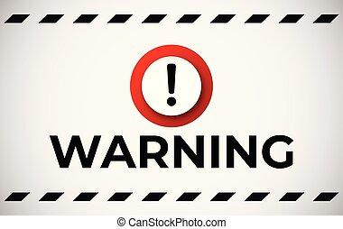 avertissement, bannière, attention