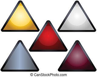 avertissement, coloré, signes