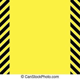 avertissement, noir, fond jaune