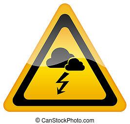 avertissement, orage