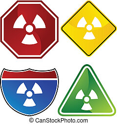avertissement, radioactif