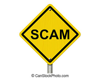 avertissement, scam