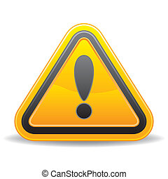 avertissement, triangulaire, signe jaune