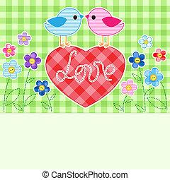 aves, amor
