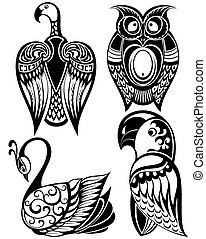 aves, iconos
