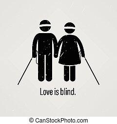 aveugle, amour