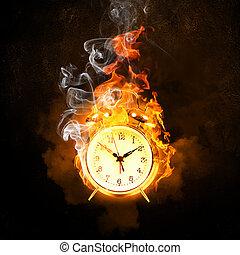 avfyra larmet, klocka