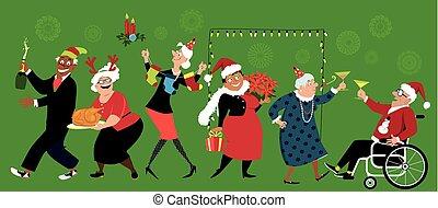 avgång, jul, gemenskap