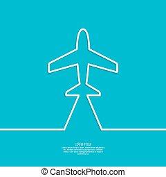 avião, ícone
