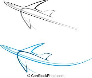 avião, airliner
