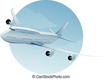 avião, ar