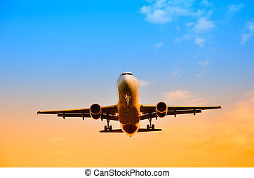 avião, céu