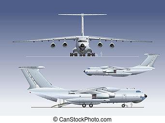 avião, delivery/cargo