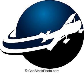 avião, logotipo, desenho, modelo, vetorial