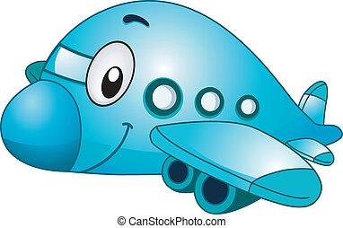 avião, mascote