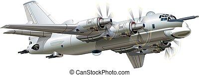 avião militar, caricatura
